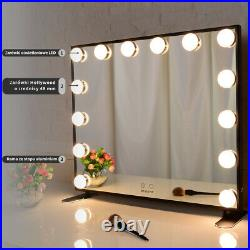 Tabletop Vanity Mirror with Lights, Salon LED Lighted Hollywood Makeup Mirrors