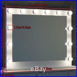 Toyswill Hollywood Vanity Mirror, Lighted Makeup Mirror Free LED Dimmable Bulbs