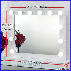 Toyswill Lighted Hollywood Makeup Vanity with Light Stage Beauty Mirror Dimmer