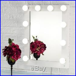 Toyswill White Hollywood Makeup Vanity Mirror Lighted Dimmer Stage Beauty Mirror