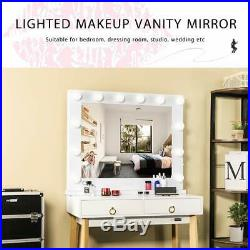 VIVOHOME 32 Hollywood Tabletop Makeup Vanity Mirror LED Light USB Wall Mounted