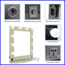Vanity Mirror Light Hollywood Makeup Mirror Wall Mounted Lighted Mirror US Stock