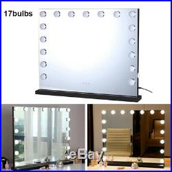 Vanity Mirror With Lights Hollywood Style Makeup Mirror with 17 Dimmable LEDs