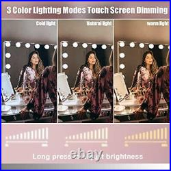 Vanity Mirror for Makeup Bluetooth, Extra Large Hollywood Lighted Mirror with