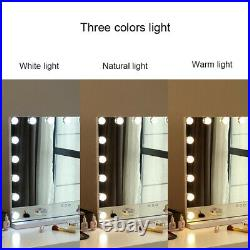 Vanity Mirror with 17 LED Dimmable Lights Hollywood Makeup Touch Control Mirrors