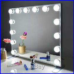 Vanity Mirror with Lights, Hollywood Lighted Led Mirror with Dimmer or Wall