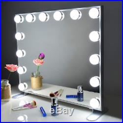 Vanity Mirror with Lights, Hollywood Lighted Mirror with Dimmer bulbs, Tabletop or