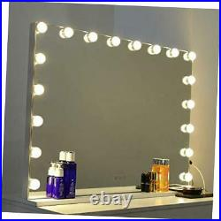 Vanity Mirror with Lights Large Hollywood Makeup Mirror with 18 LED Bulbs