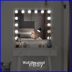 Vanity Mirror with Lights, Tabletop Wall Mounted Lighted Hollywood Mirrors Bulbs