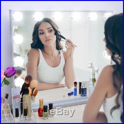 Vanity Mirror with Lights, Tabletop or Wall Mounted Lighted Hollywood Mirrors