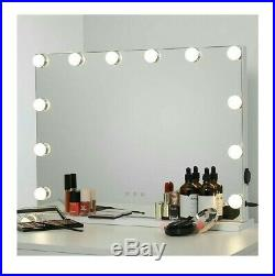 WAYKING Makeup Mirror with Lights, Hollywood Lighted Vanity Mirror with Touch