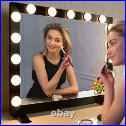 WONSTART Hollywood Mirror with Lights, Lighted Vanity Mirror with 15 Dimmer Bulbs