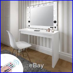 Wall Hollywood Makeup Vanity Mirror Lighted Illuminated Tabletop Cosmetic Mirror