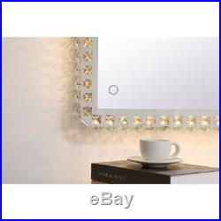 Wall Mirror With Crystals Lighting Hollywood Bedroom Makeup Vanity Led Lights