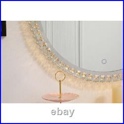 Wall Mirrors With Crystals Lighted Hollywood Bathroom Makeup Vanity Lights Bulbs