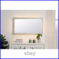Wall Mirrors With Crystals Lighting Hollywood Makeup Vanity Led Lights Dimmable