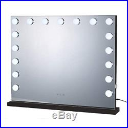 Walsport Lighted Makeup Mirror Vanity Hollywood Mirror with Smart Touch, 17 LED