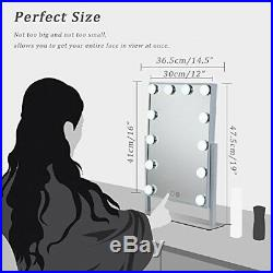 WanEway Hollywood Lighted Vanity Mirror with LED Lights for Makeup Dressing Tabl