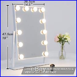 Waneway Hollywood Lighted Vanity Mirror with LED Lights for Makeup Dressing Set