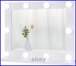 Waneway Hollywood Mirror for Dressing Table, Large Lighted Vanity Mirror with up