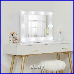 Waneway Hollywood Mirror with Lights, Large Wooden Vanity Makeup Mirror for