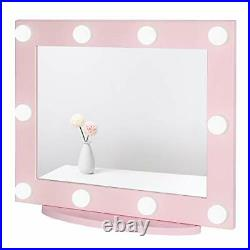Waneway Hollywood Mirror with Lights for Dressing Table, Large Lighted Vanity