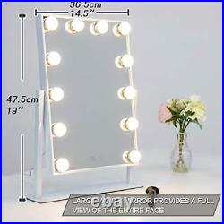 Waneway Hollywood Mirror with Lights for Makeup Dressing Table, Lighted Vanity