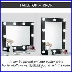 Waneway Hollywood Vanity Mirror with Lights Large Lighted Makeup Mirror for D