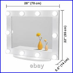Waneway White Hollywood Vanity Mirror With Lights, Large Lighted Makeup Mirror