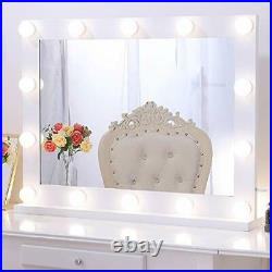 Wellmet Hollywood Vanity Mirror with Lights, White Dressing Table Mirror