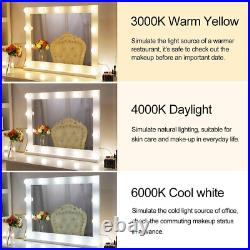 Wellmet Hollywood Vanity Mirror with Lights, White Dressing Table Mirror with Up