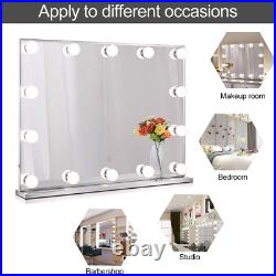 Wellmet Large Hollywood Makeup Mirror with 14 LED Lights, Lighted Vanity Mirror