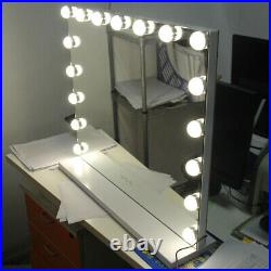 White 23'' Hollywood Makeup Vanity Mirror with 17 LED Lights Large Mirror Dimmer