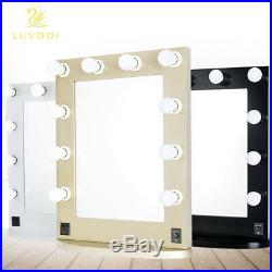 White Black Hollywood Makeup Vanity Mirror with Light for Salon Theater Bedroom