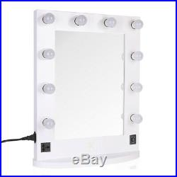 White/Black Large Hollywood Makeup Vanity Mirror with Light or BT Speaker Remote