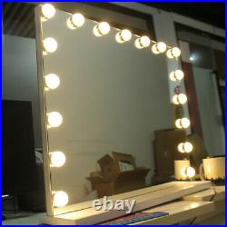 White Hollywood 60x52cm Makeup Vanity Mirror with 17 Lights Large Beauty Mirror