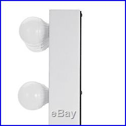 White Hollywood Makeup Vanity Mirror with Bulb Dimmer Stage Beauty Mirror