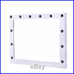 White Hollywood Makeup Vanity Mirror with Light Dimmer Stage Beauty Mirror US