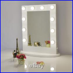White Hollywood Makeup Vanity Mirror with Light Dimmer Stage LED Beauty Mirror
