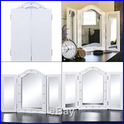 White Hollywood Makeup Vanity Mirror with Light Large Beauty Room Lighted Mirror