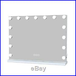 White Hollywood Makeup Vanity Mirror with Light Stage Large Beauty Mirror 23