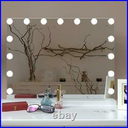 White Hollywood Makeup Vanity Mirror with Light Stage Large Beauty Mirror 23L