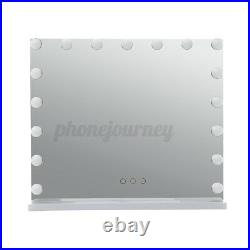 White Vanity Makeup Mirror 17 LED Lights Dimmer Hollywood Beauty Tabletop Light