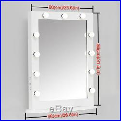 XLarge Table Stage Beauty Hollywood Vanity Makeup Mirror with Light Dimmer USB