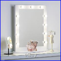 XLarge White Hollywood Vanity Makeup Mirror with Lights Dimmer Tabletop/Wall
